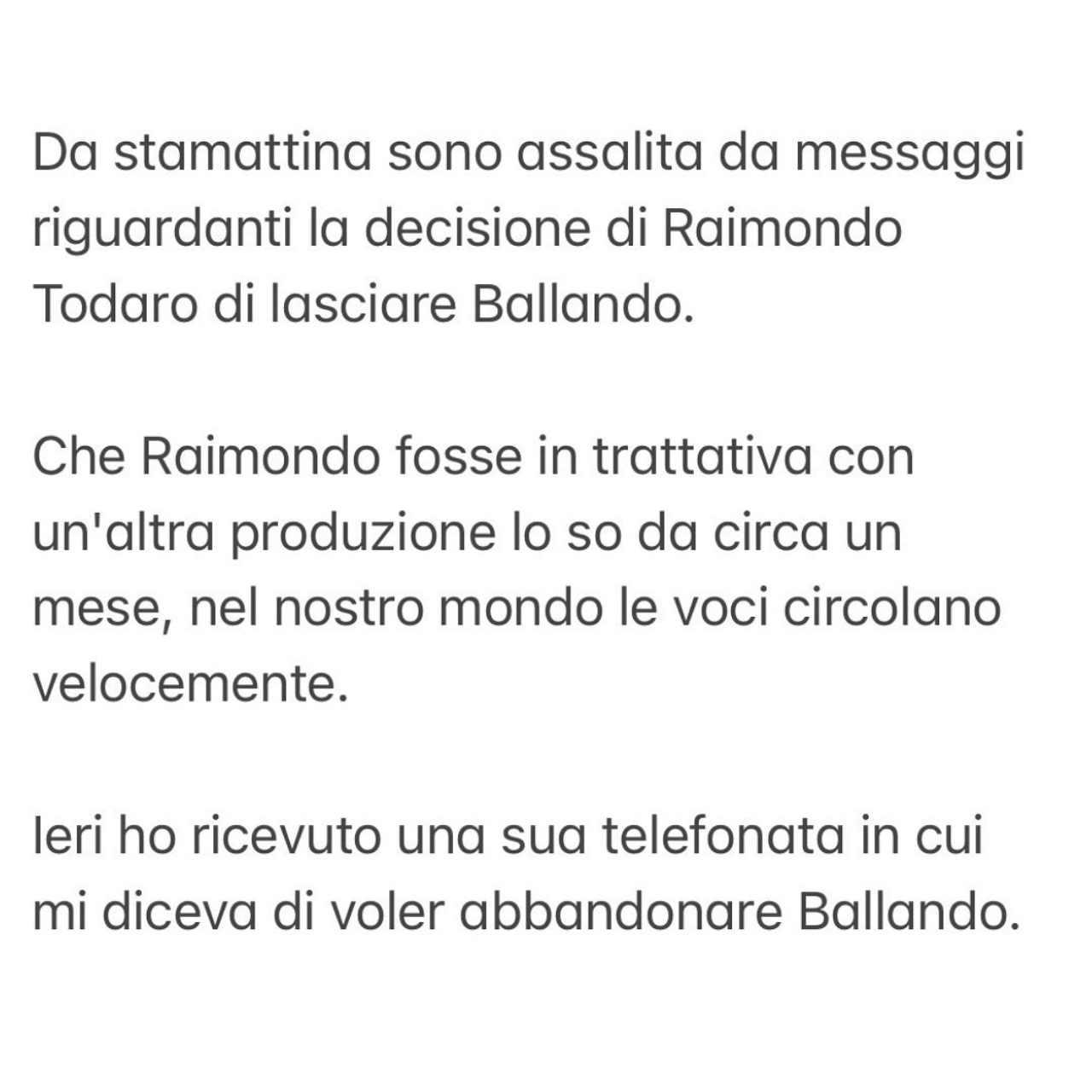 post di milly carlucci (instagram)