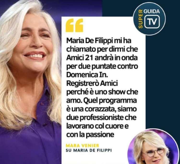 Mara Venier Maria De Filippi